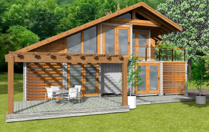 Shipping container home concept